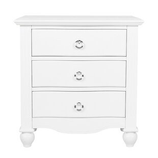 Scandia 3 Drawer Nightstand by Harriet Bee