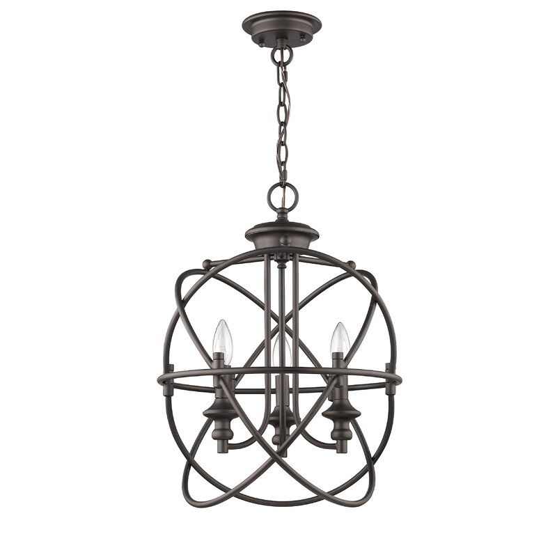 Bouvet Industrial 3 Light Globe Chandelier
