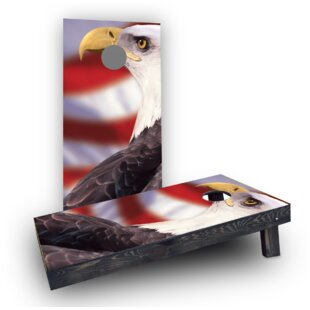 Custom Cornhole Boards Patriotic Bald Eagle Cornhole Boards (Set of 2)