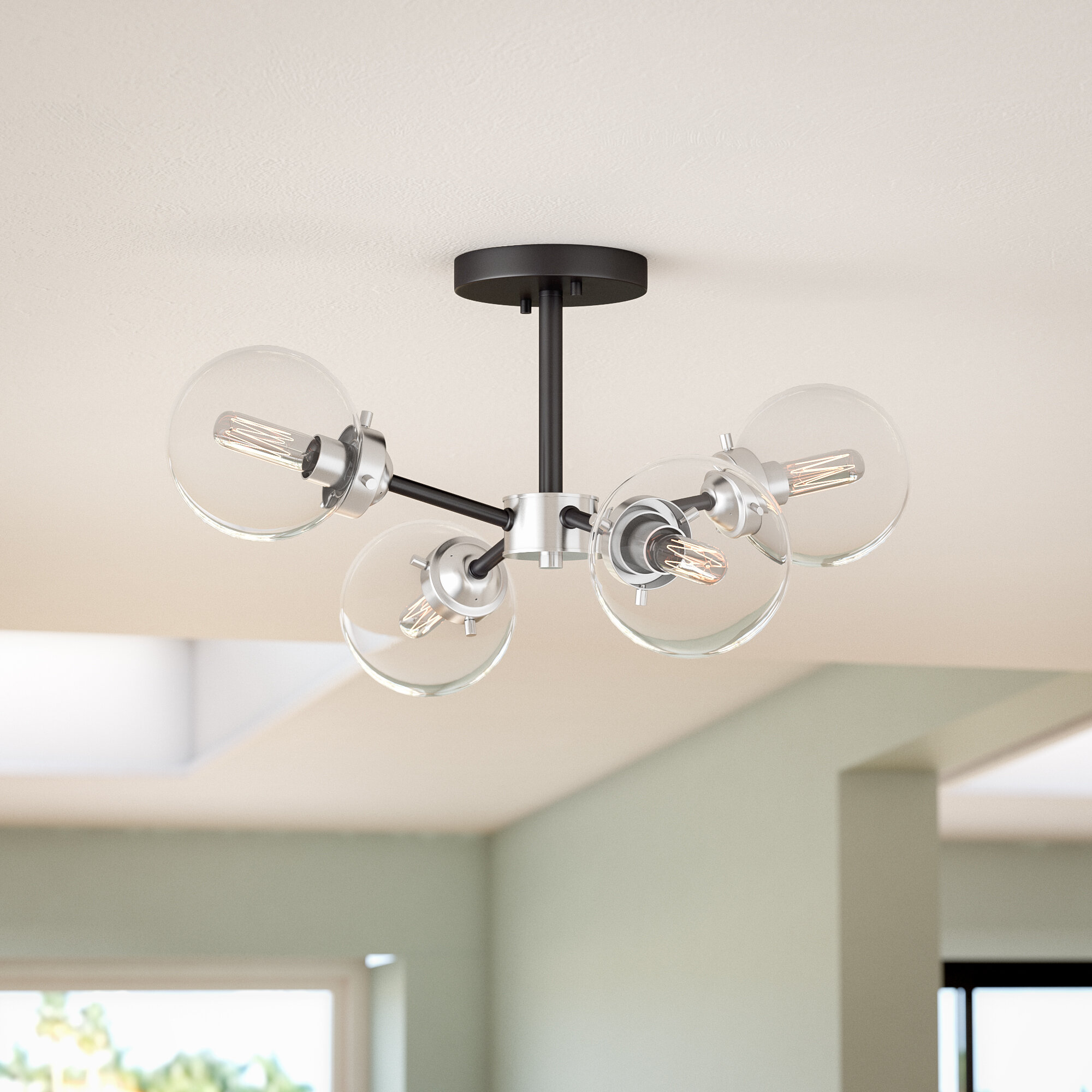 Wade Logan Badilla 4-Light Semi Flush Mount & Reviews | Wayfair