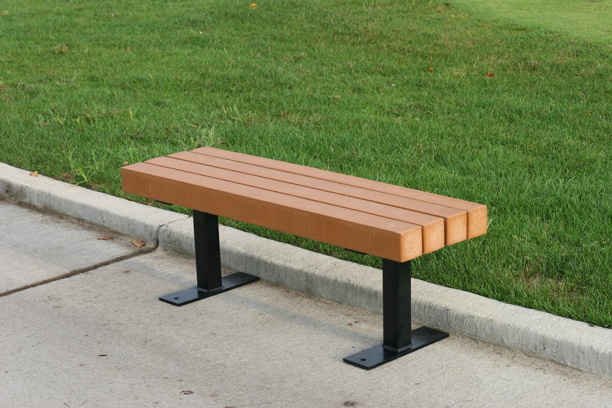 frog furnishings trailside recycled plastic park bench & reviews