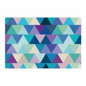 Draper Crystal Geometric Purple/Blue Area Rug