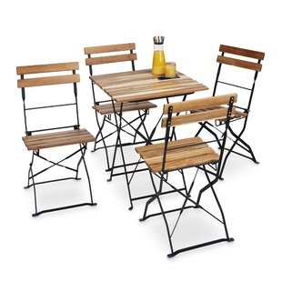 Tata Garden Metal And Wood Folding Chair (Set Of 4) By Sol 72 Outdoor