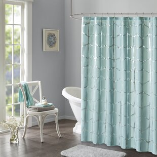 Blue Gray Silver Shower Curtains You Ll Love Wayfair