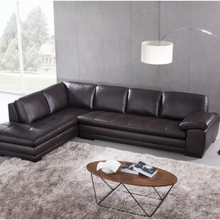 Brown Leather Sectionals Youu0027ll Love | Wayfair
