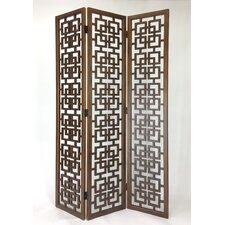 83 x 54 Interlocking Squares 3 Panel Room Divider by Wayborn