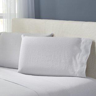 Bernadette Washed Linen Pillowcase (Set of 2) by Birch Lane™ Heritage