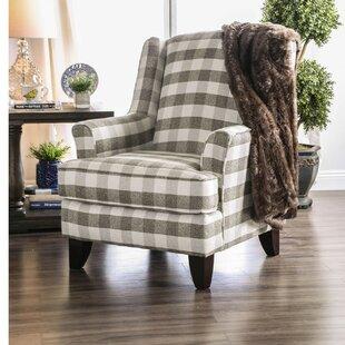 Gracie Oaks Vaillancourt Checkered Armchair
