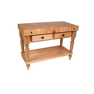 American Heritage Prep Table With Butcher Block Top by John Boos Today Sale Only