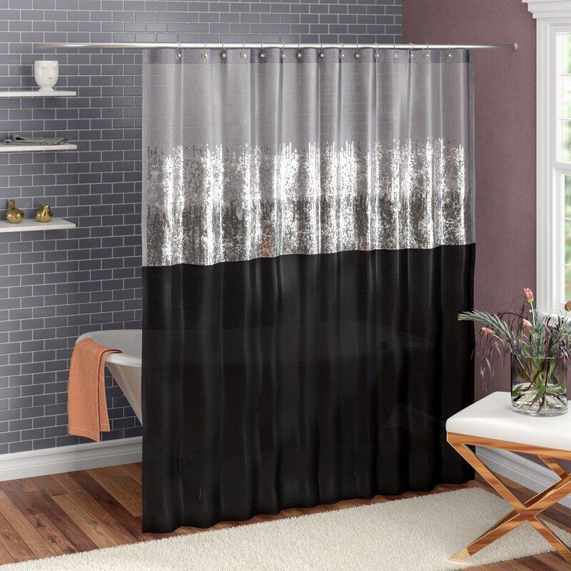 Mercer41 Pruneda Striped Single Shower Curtain Reviews Wayfair