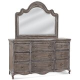 Maximilian 9 Drawer Double Dresser with Mirror by One Allium Way®