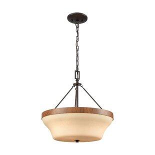 Millwood Pines Sapphire 3-Light Bowl Pendant