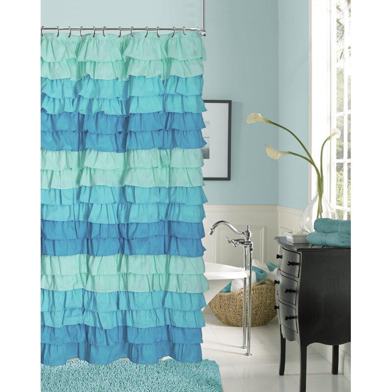 Rosdorf Park Bletsoe Ruffle Shower Curtain Reviews