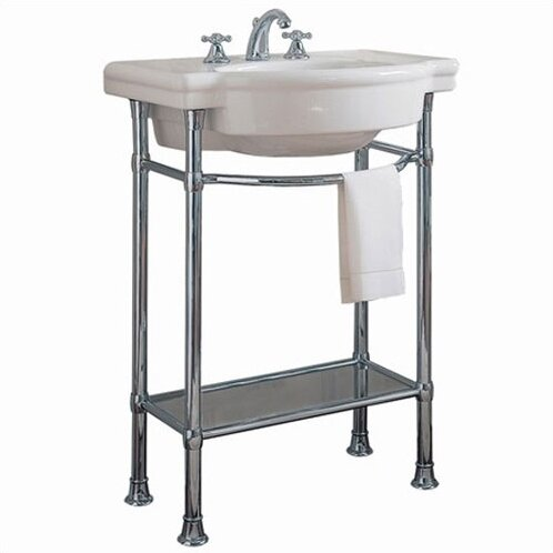 "Retrospect Ceramic 27"" Console Bathroom Sink with Overflow"