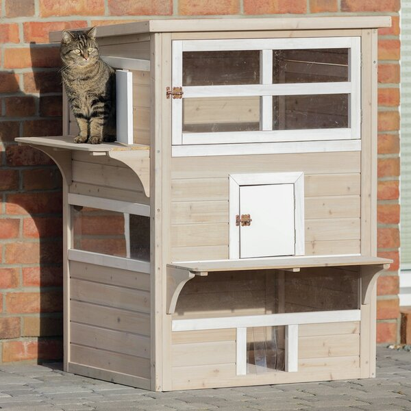 3 Level Gatsby Cat House Indoor Outdoor 45.5 H x 34.25 W x 25 L inches
