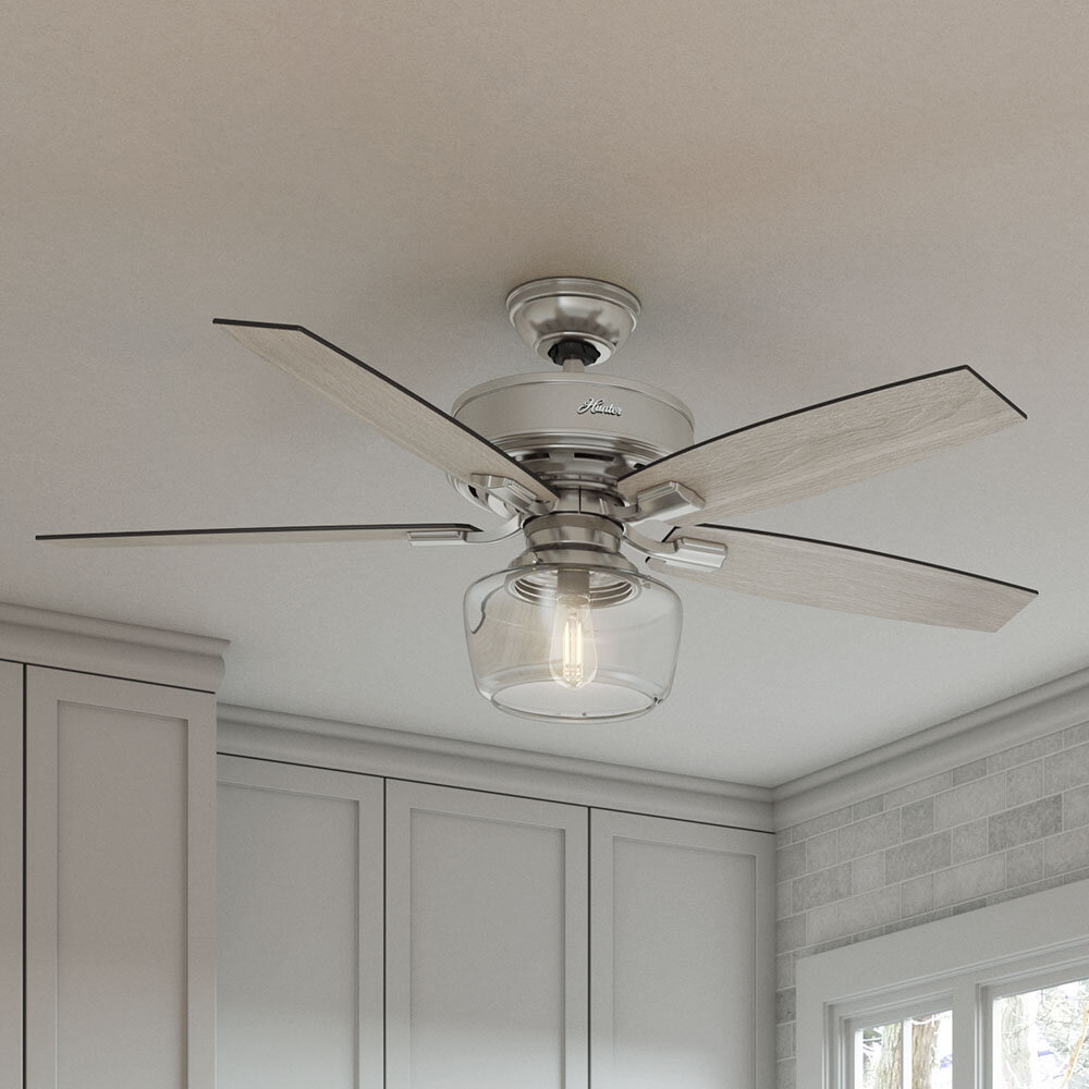 Groovy 52 Bennett 5 Blade Led Ceiling Fan With Remote Light Kit Included Download Free Architecture Designs Embacsunscenecom