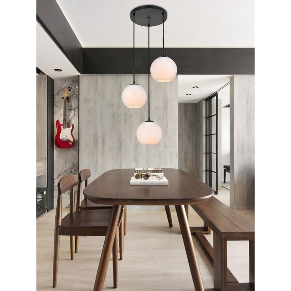 Snead 3 - Light Kitchen Island Pendant with Glass Accents by Mercury Row®