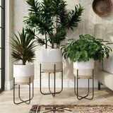 Extra Large Gold Planter Pots You Ll Love In 2021 Wayfair