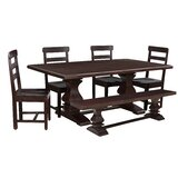 Brookport 6 - Piece Mango Solid Wood Dining Set by Rosalind Wheeler