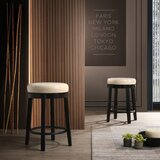Legros Swivel Bar & Counter Stool with Cushion (Set of 2) by Red Barrel Studio®