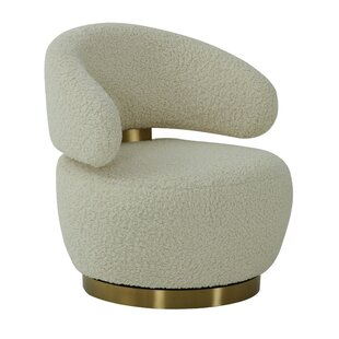 Tollett Faux Shearling Barrel Chair