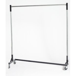 Compare prices 63 W Heavy Duty H-Rack Single Quickrail Garment Rack By Quality Fabricators