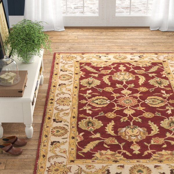Magnolia Hand Tufted Wool Red Beige Area Rug Reviews Birch Lane