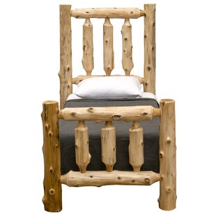 Traditional Cedar Log Panel Bed by Fireside Lodge Today Only Sale