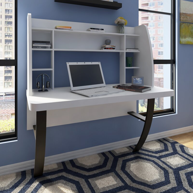 Oliviana Floating Desk with Hutch