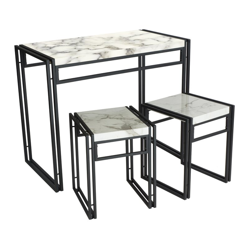 Merveilleux Debby Small Space 3 Piece Dining Set