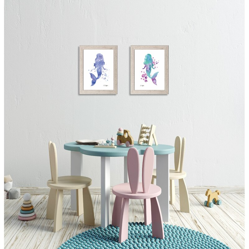 16-Piece Mermaid Under The Sea Clear Foil Accented Stickers