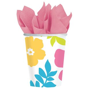 Summer Hibiscus Paper Disposable Cup (Set of 25)