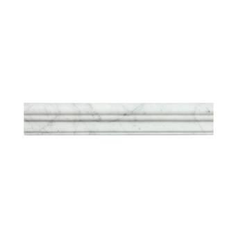 Cordelio 12 X 1 9 Honed Marble Chair Rail Tile Trim In White Wayfair