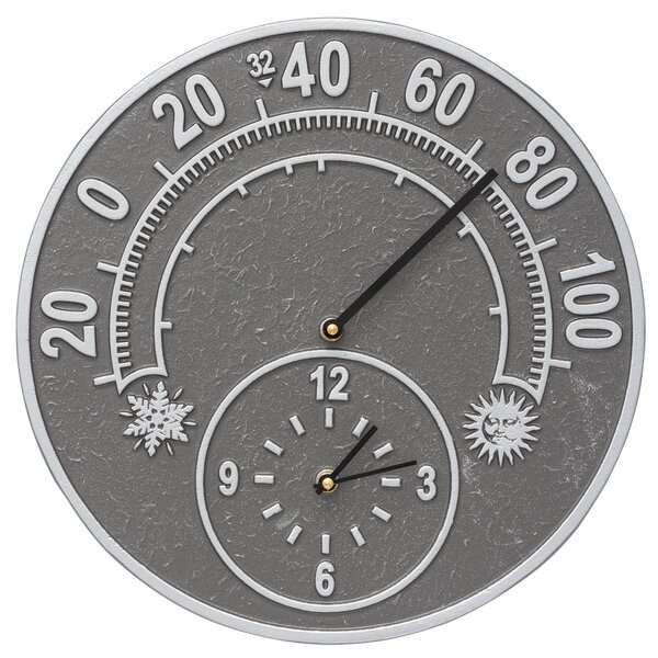 Whitehall Products Solstice Indoor Outdoor Wall Clock And