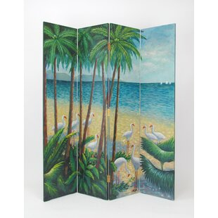Rosecliff Heights Fischer Beach 4 Panel Room Divider