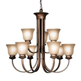 Woodbridge Lighting Dresden 9-Light Shaded Chandelier