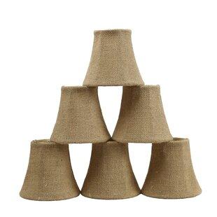 5 Burlap Bell Candelabra Shade (Set of 6)