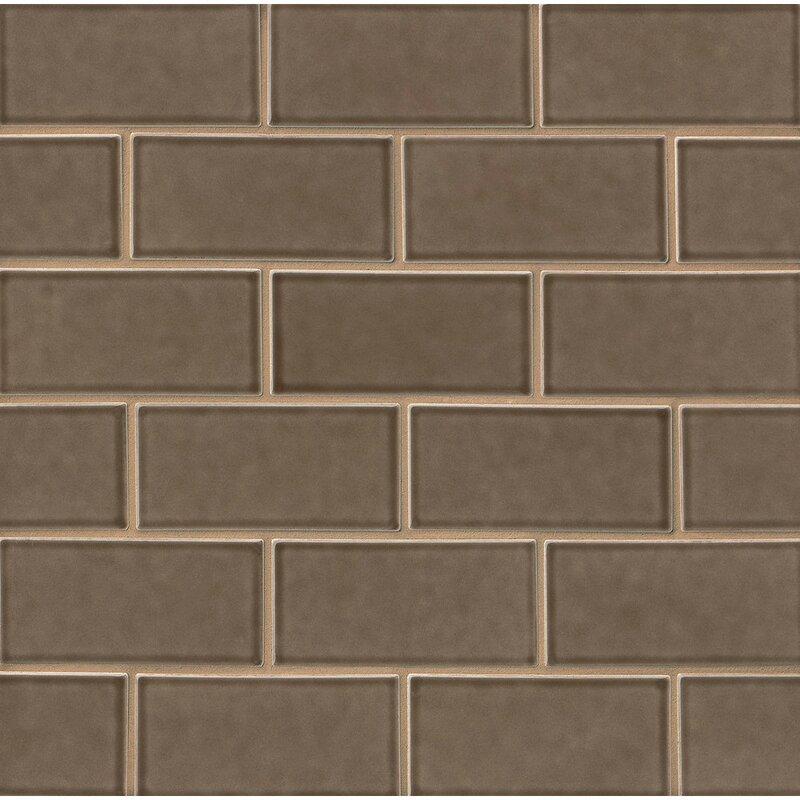 Morris 3 X 6 Ceramic Subway Tile In Matte Brown
