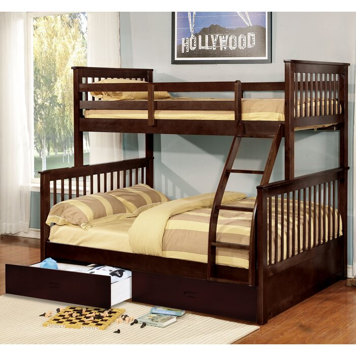 Aleta Twin Over Full Bunk Bed With Drawers