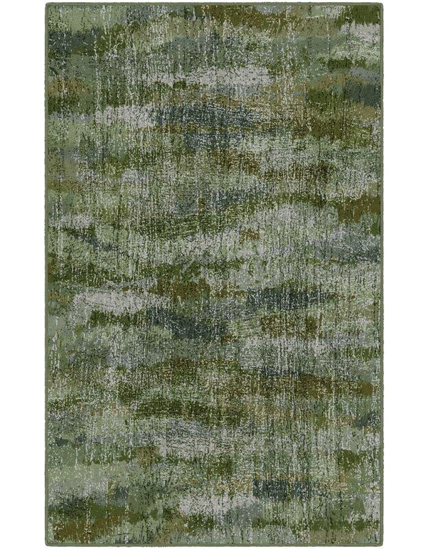 Wrought Studio Medfield Greenery Vintage Abstract Green Area Rug Reviews Wayfair Ca