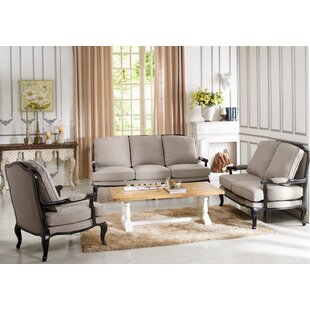 One Allium Way Bem 3 Piece Living Room Set