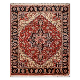 Price comparison One-of-a-Kind Ella Traditional Persian Hand-Knotted 7'10 x 10'2 Wool Rust/Black/Ivory Area Rug By Isabelline
