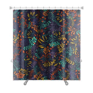 Slide Hand Draw Herbs and Leaves Nature Premium Single Shower Curtain