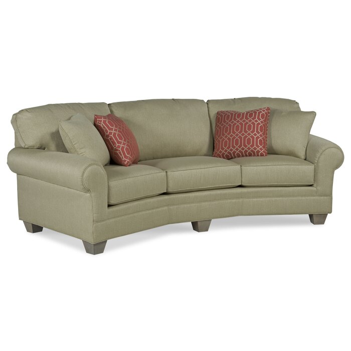 Ayden Leather Curved Sofa