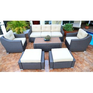 Find for Tampa 6 Piece Sofa Seating Group with Cushions Price Check