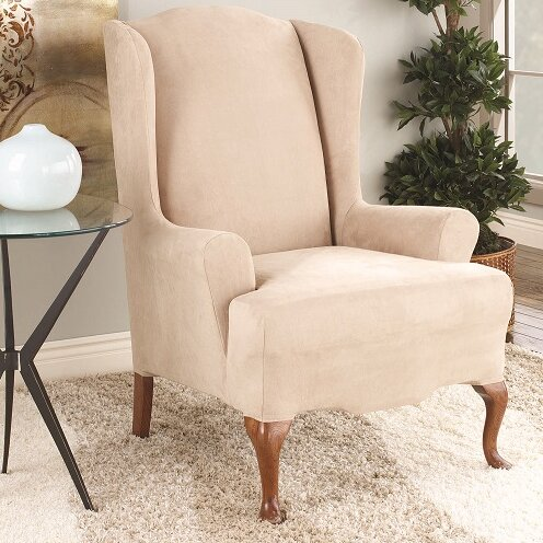 Bon T Cushion Wingback Slipcover