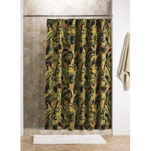 Order La Selva Black 100% Cotton Shower Curtain ByAdamstown At Home