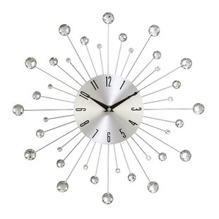Silver/Chrome Wall Clocks - Modern & Contemporary Designs | AllModern