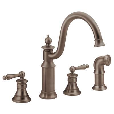 K 16109 4a Cp Pb Kohler Revival Double Handle Kitchen Faucet With