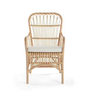 Deloris Rattan Arm Chair (Set of 2) by Ba..